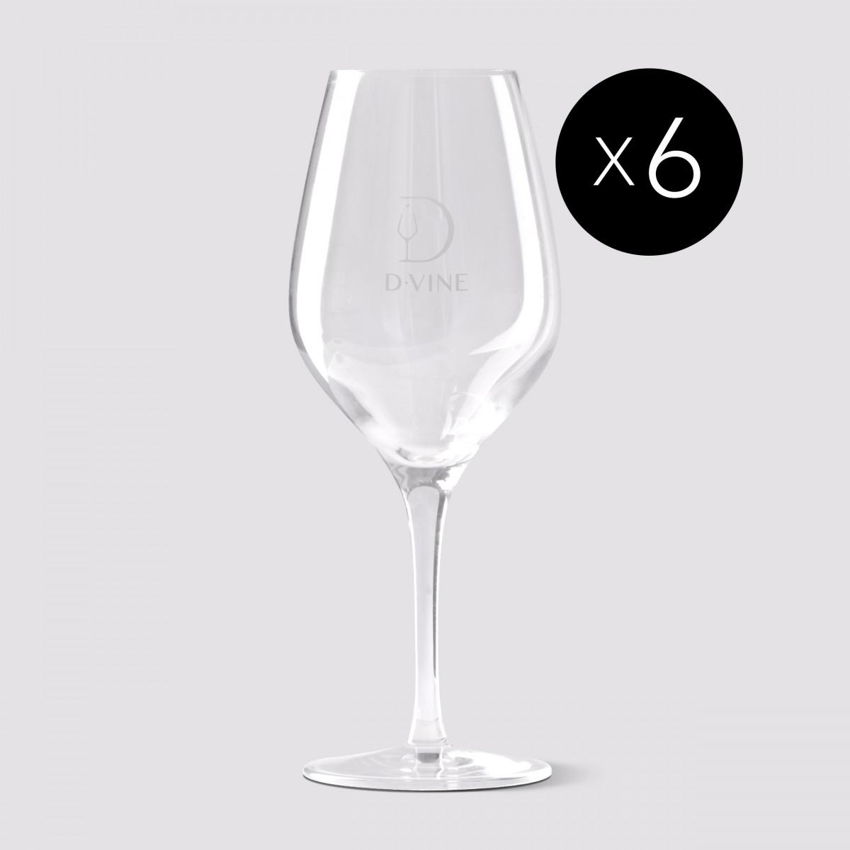 6 D-Vine glasses