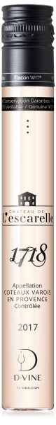 """Coteaux Varois en Provence """"Cuvée 1718"""" Château de l'Escarelle 2017"""